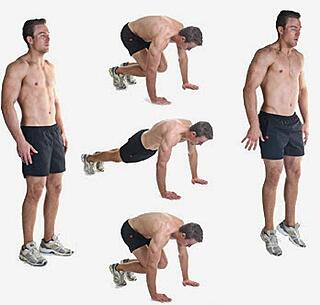 The burpee exercise