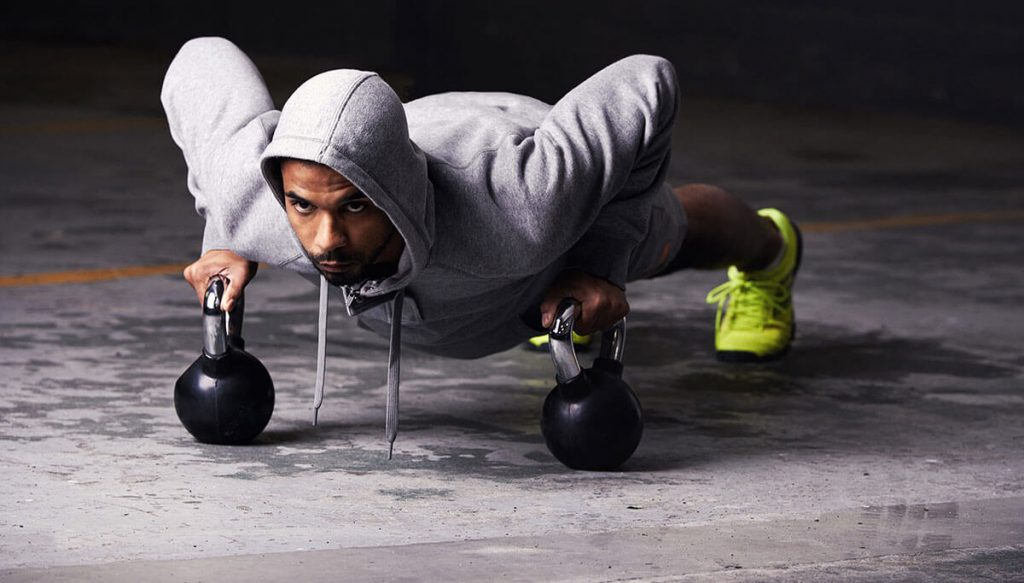 mean learning kettlebell exercises on a military resettlement course