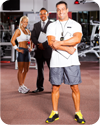 Three personal trainers