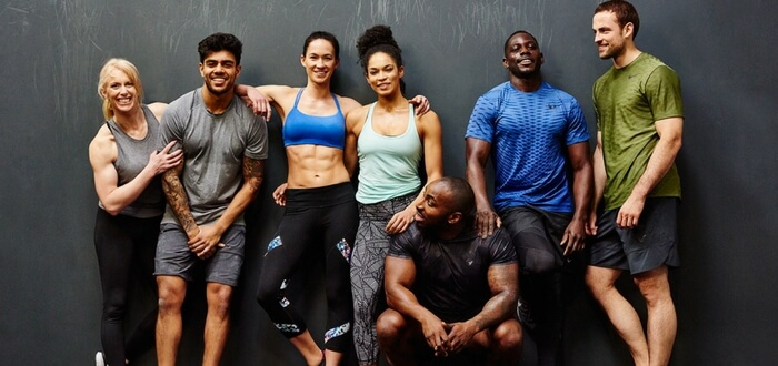 Personal Trainers in a group
