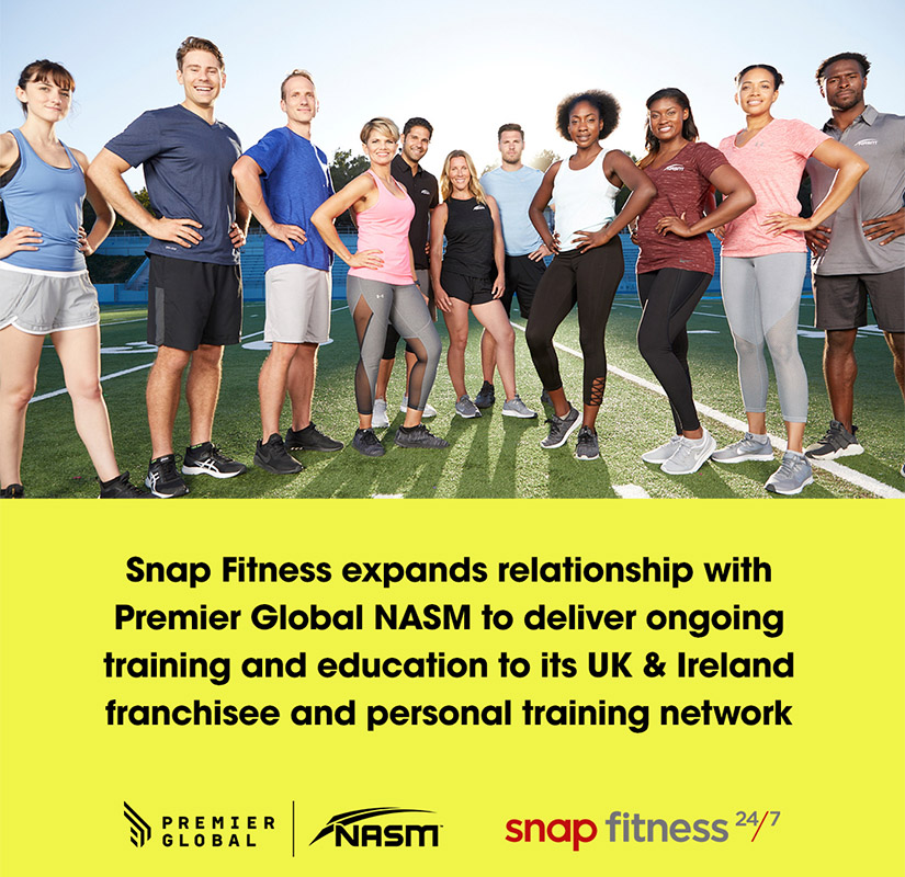 pg nasm and snap fitness partnership announcement