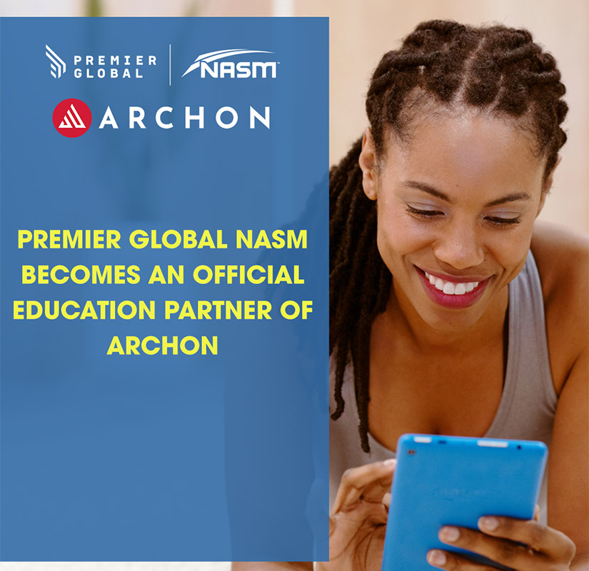 an announcement that says premier global becomes a partner of Archon