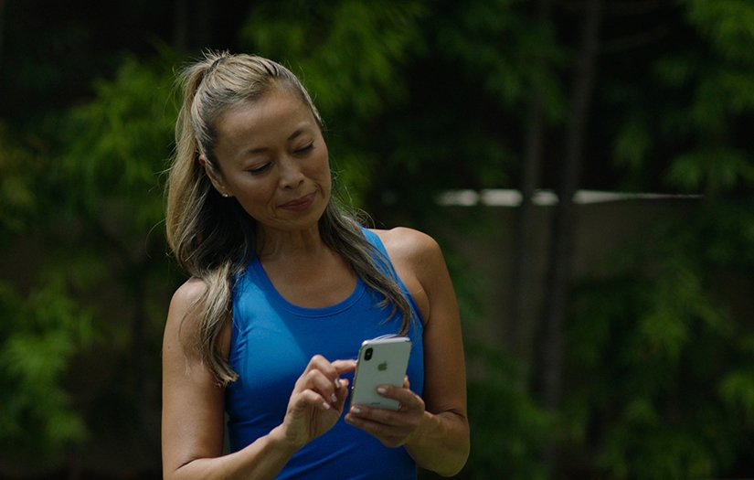personal trainer doing content creation