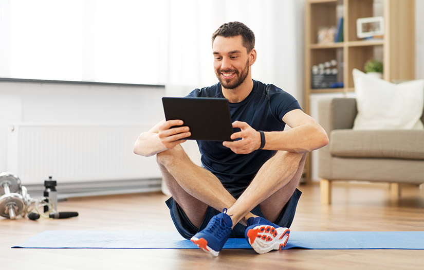 trainer training clients digitally